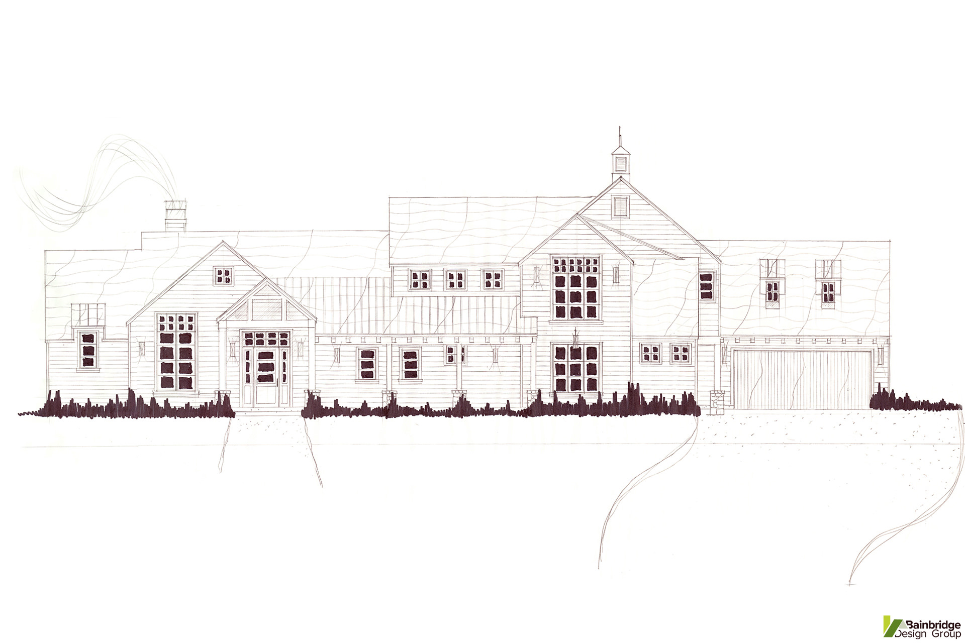 House sketches gallery bainbridge design group for Bainbridge design