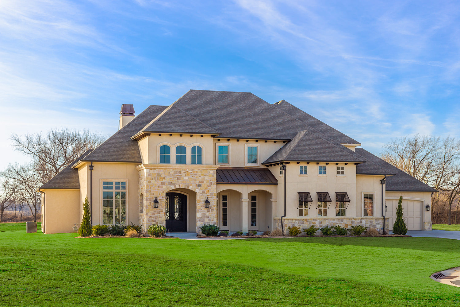 Italian transitional home designs bainbridge design group for Transitional house plans