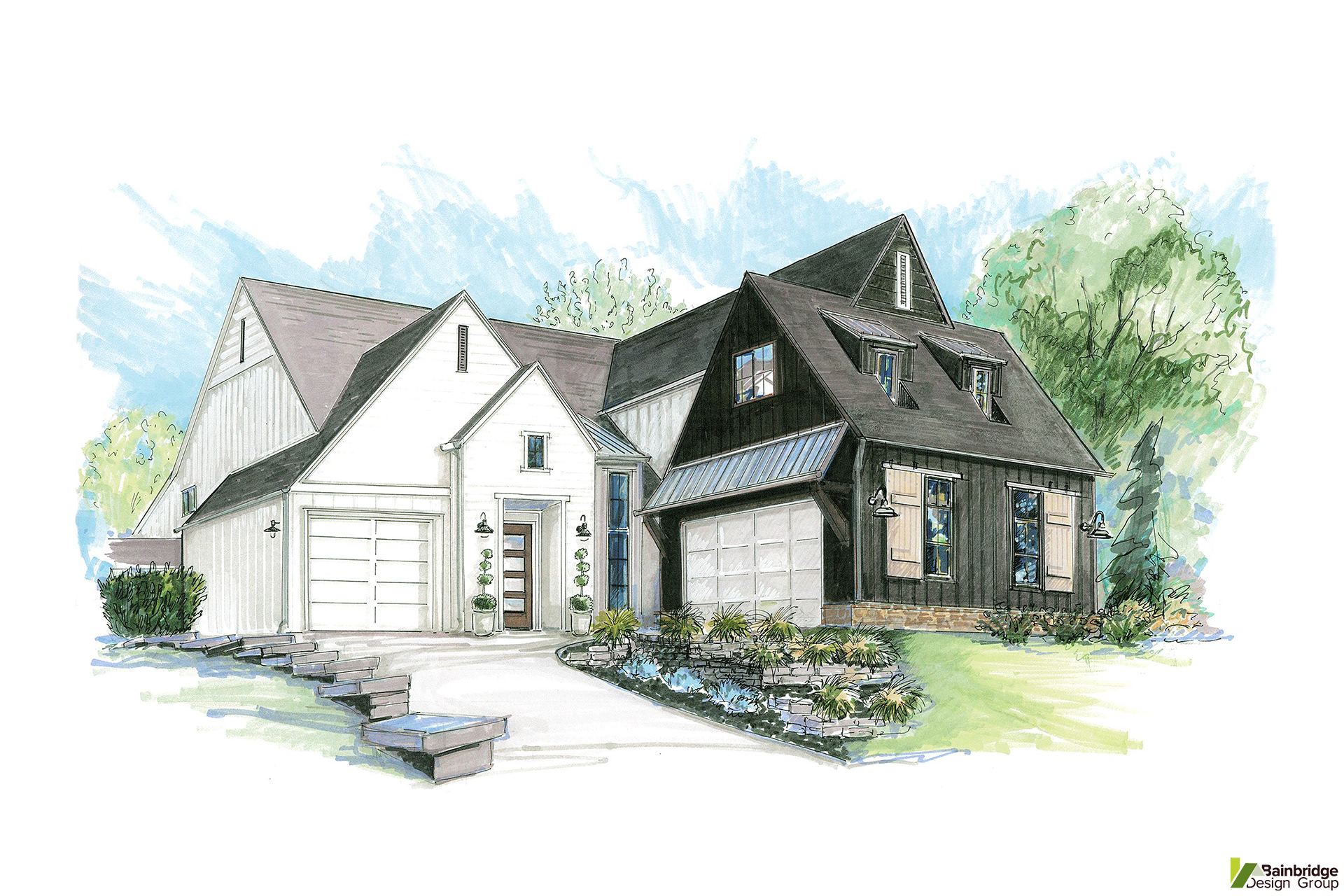 Modern farmhouse designs bainbridge design group for Farmhouse plans