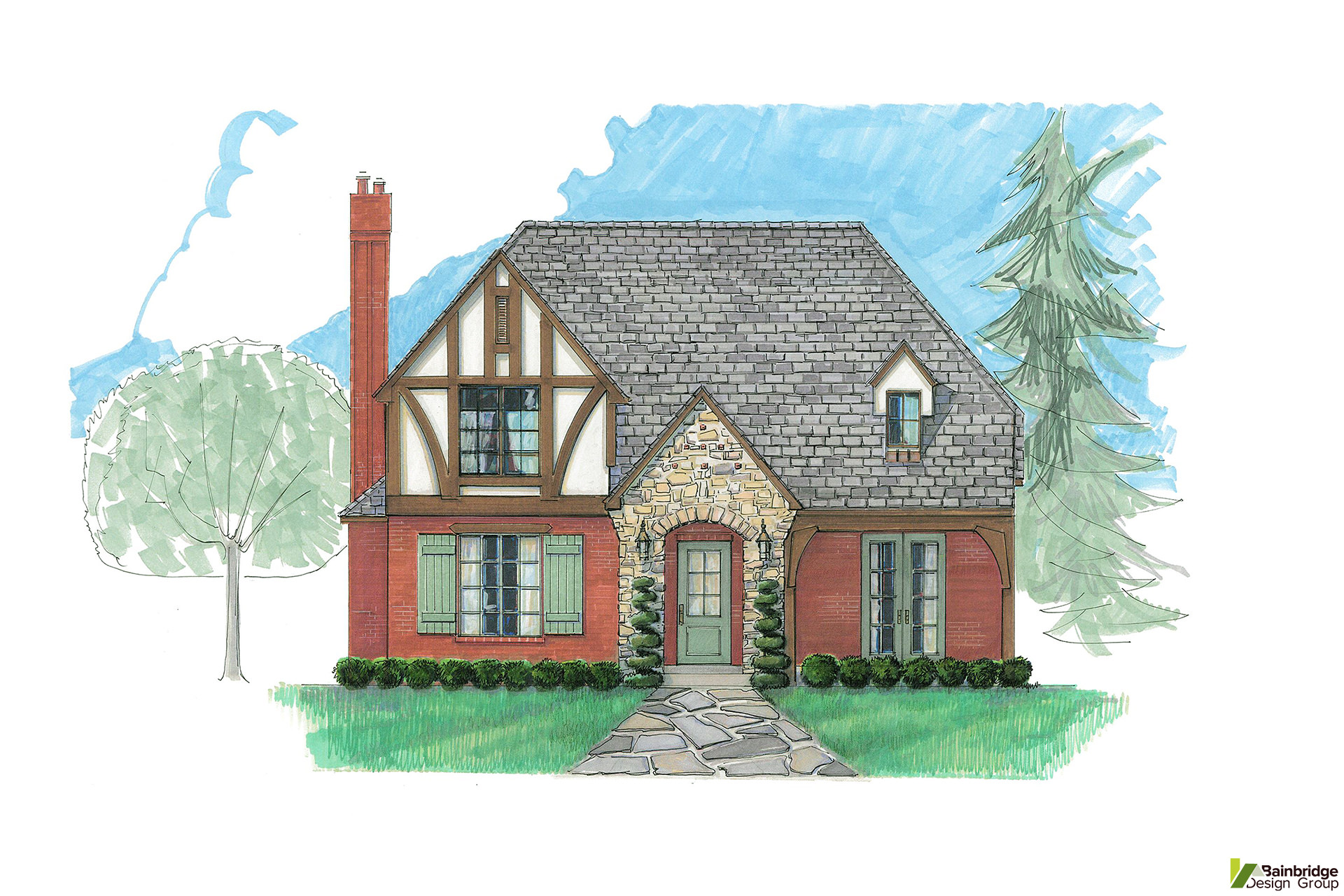English tudor bainbridge design group for English tudor home designs