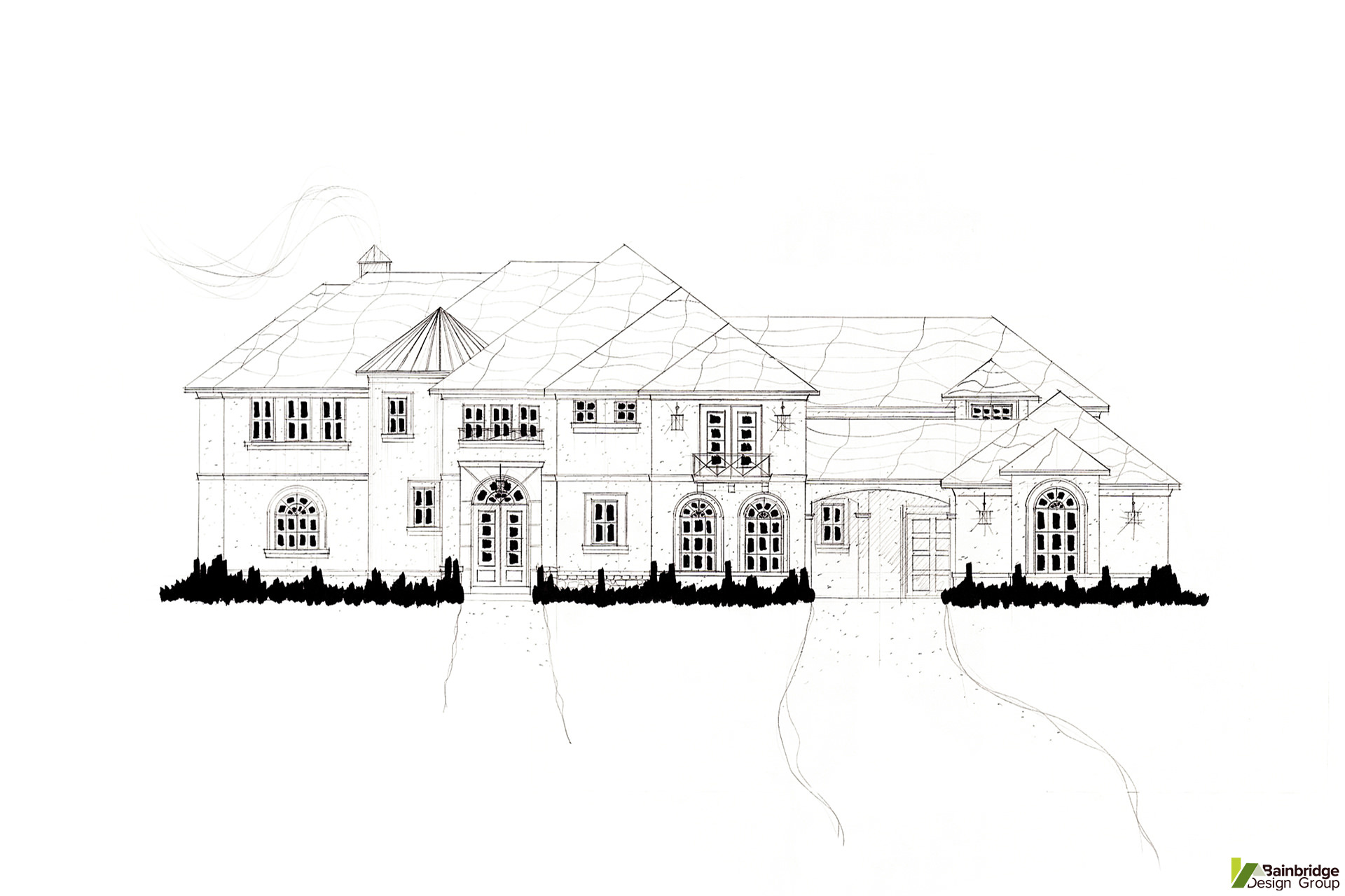 Italian Villa Home Designs Bainbridge Design Group